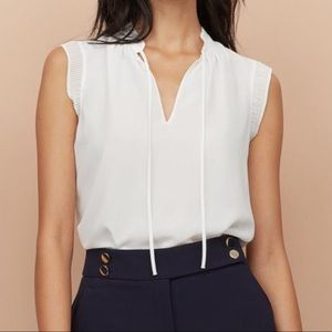 NWOT! H&M Airy Pleated Collar Blouse